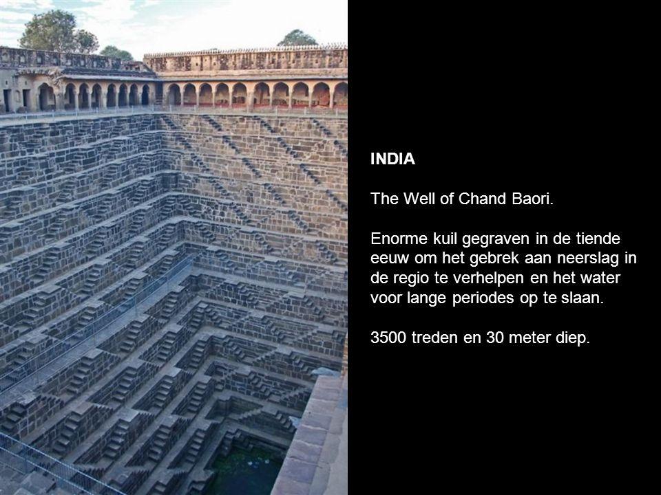 INDIA The Well of Chand Baori.