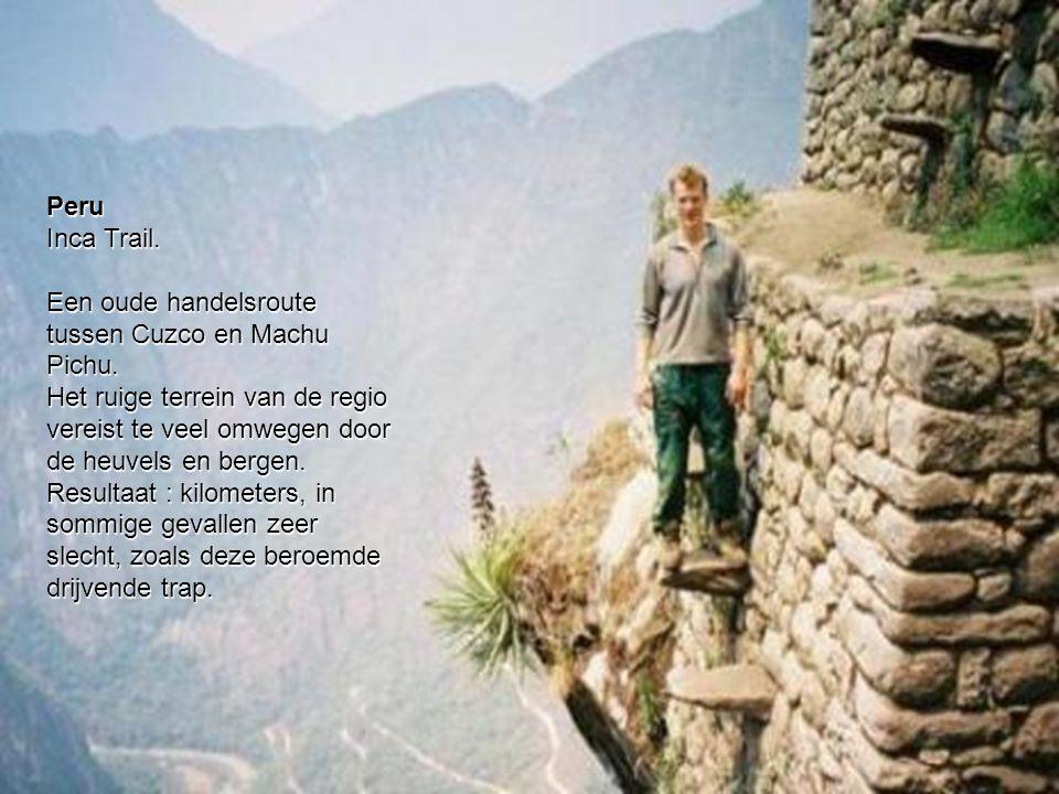 Peru Inca Trail.Een oude handelsroute tussen Cuzco en Machu Pichu.