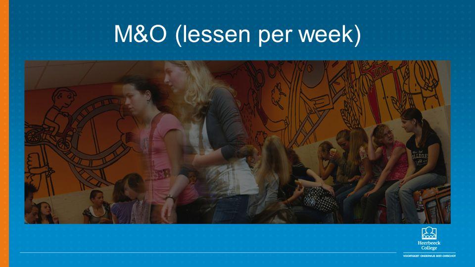 M&O (lessen per week)