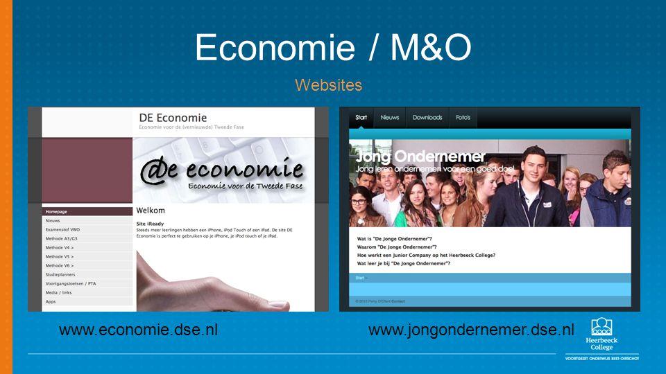 Economie / M&O www.economie.dse.nlwww.jongondernemer.dse.nl Websites
