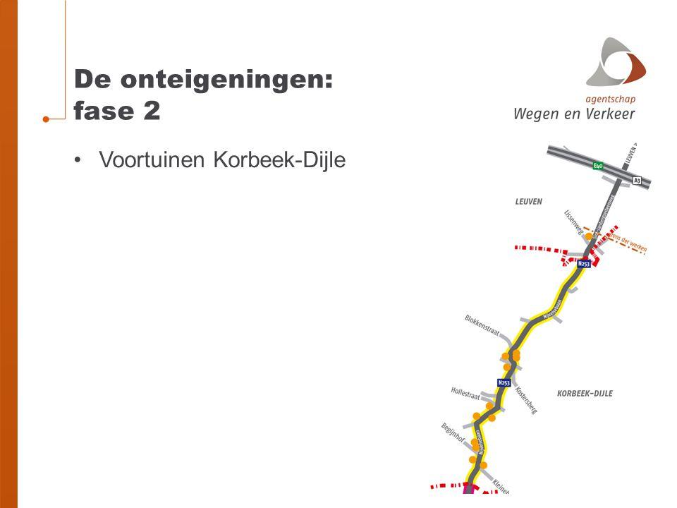 De onteigeningen: fase 2 Voortuinen Korbeek-Dijle