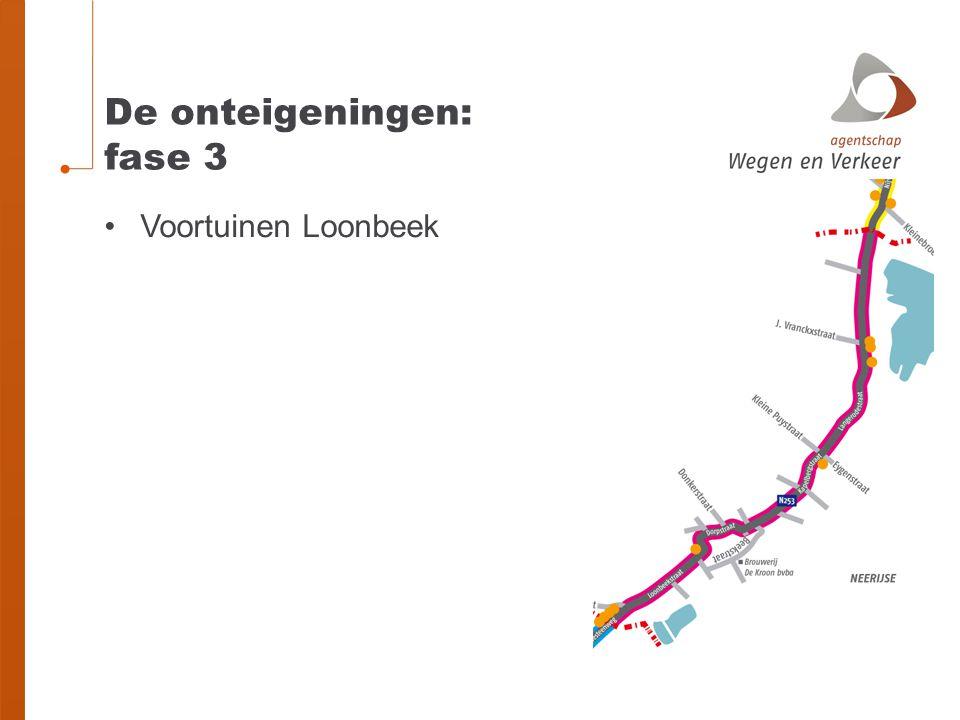De onteigeningen: fase 3 Voortuinen Loonbeek