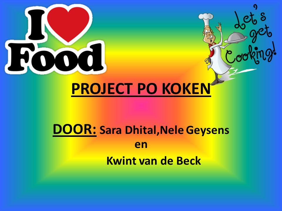 PROJECT PO KOKEN DOOR: Sara Dhital,Nele Geysens en Kwint van de Beck