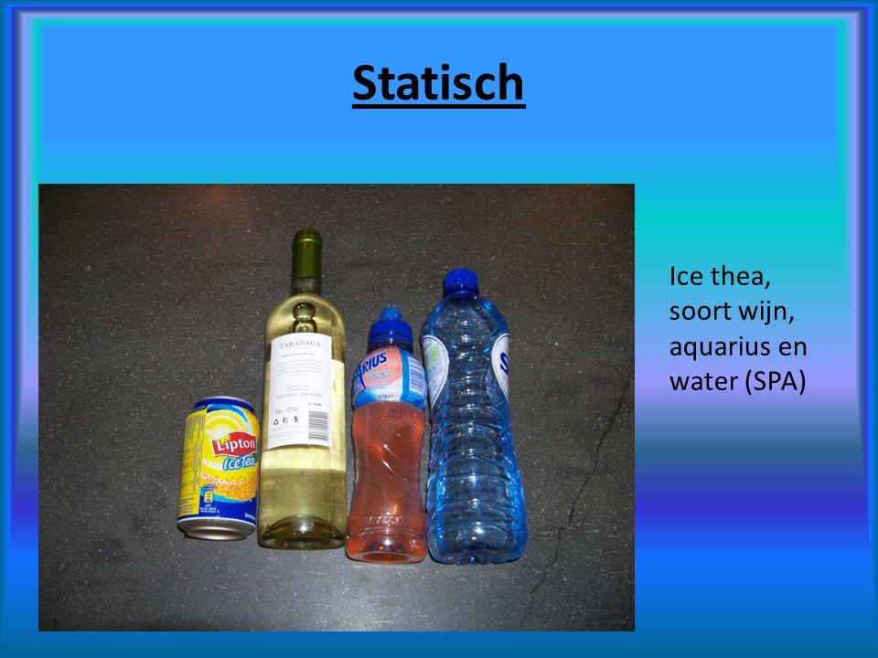 Statisch Ice thea, soort wijn, aquarius en water (SPA)