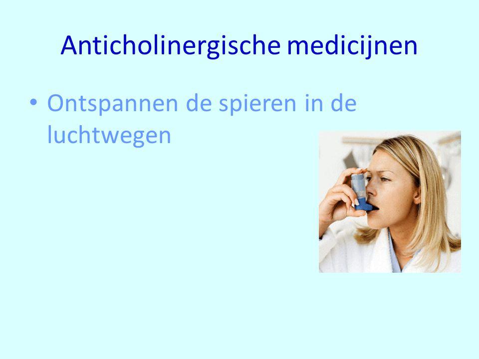 Anticholinergische medicijnen Ontspannen de spieren in de luchtwegen