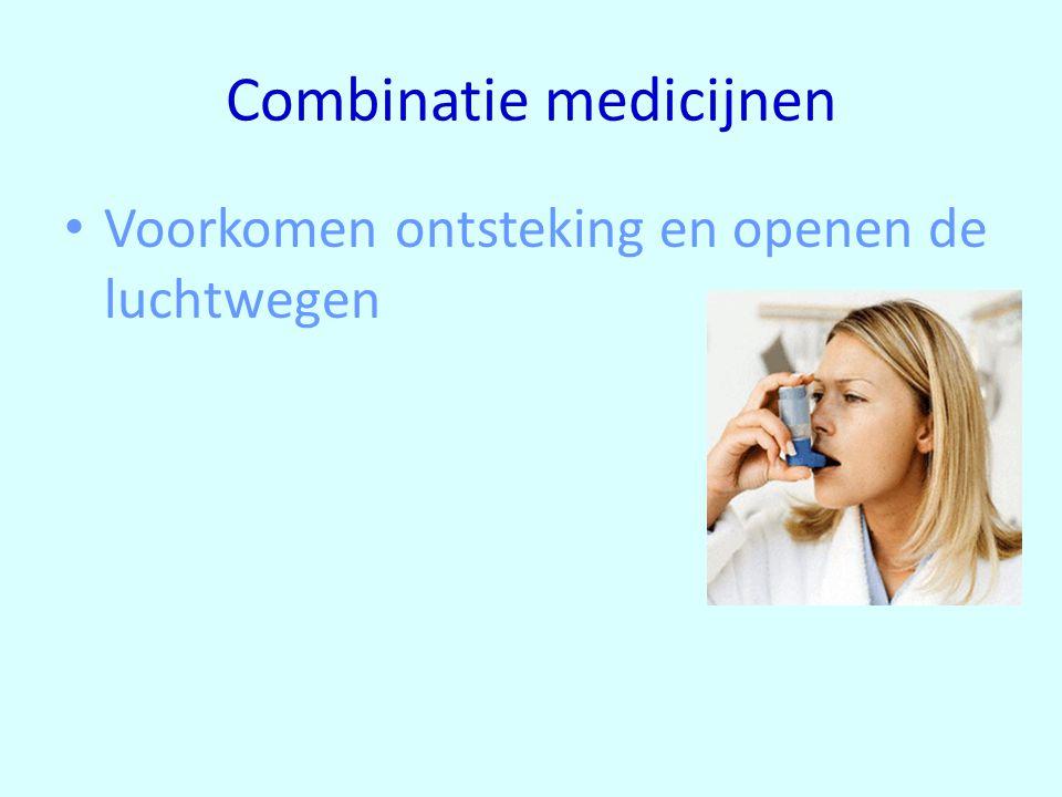 Combinatie medicijnen Voorkomen ontsteking en openen de luchtwegen