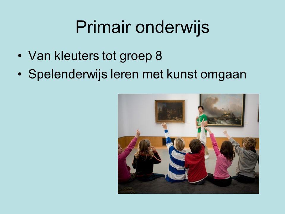 Primair onderwijs Van kleuters tot groep 8 Spelenderwijs leren met kunst omgaan