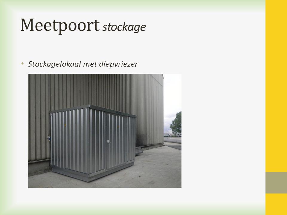 Meetpoort stockage Stockagelokaal met diepvriezer