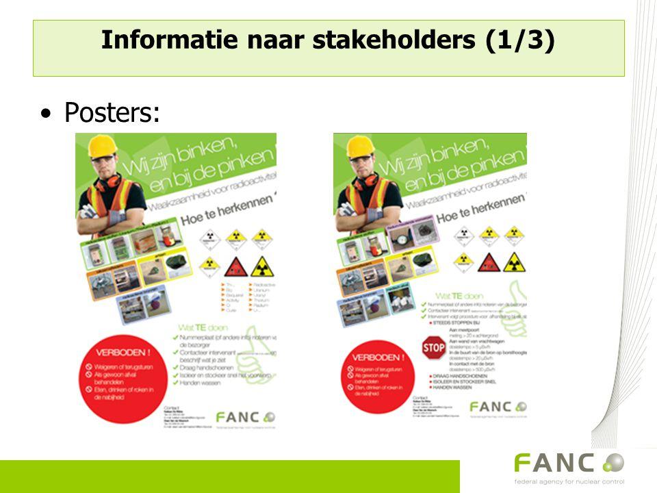 Informatie naar stakeholders (1/3) Posters: