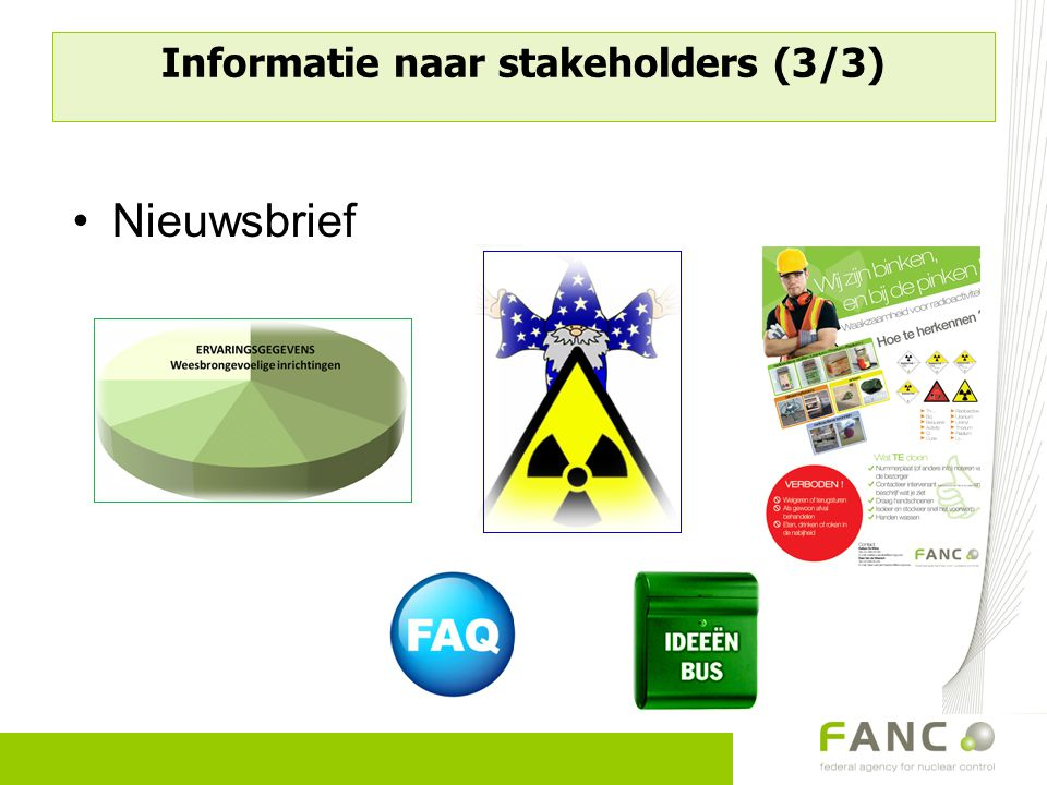 Informatie naar stakeholders (3/3) Nieuwsbrief