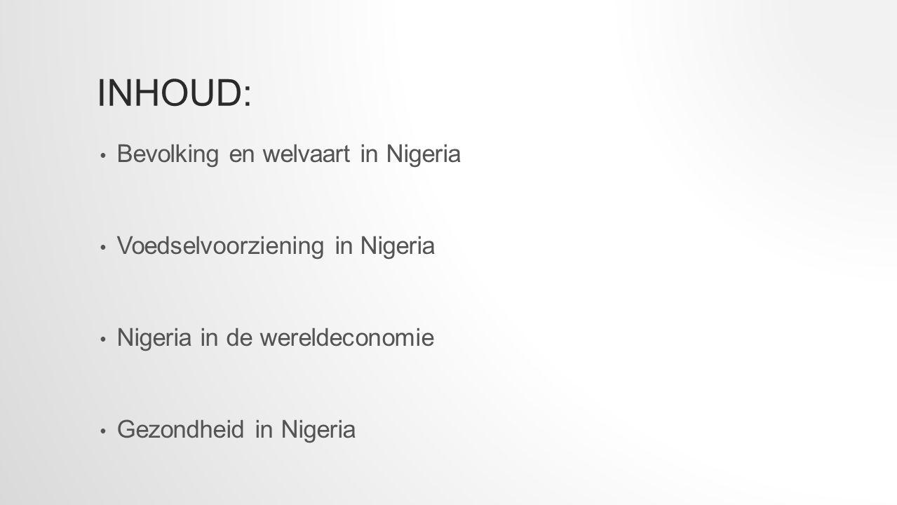BEVOLKING EN WELVAART IN NIGERIA Nigeria bestaat uit 155 miljoen mensen.