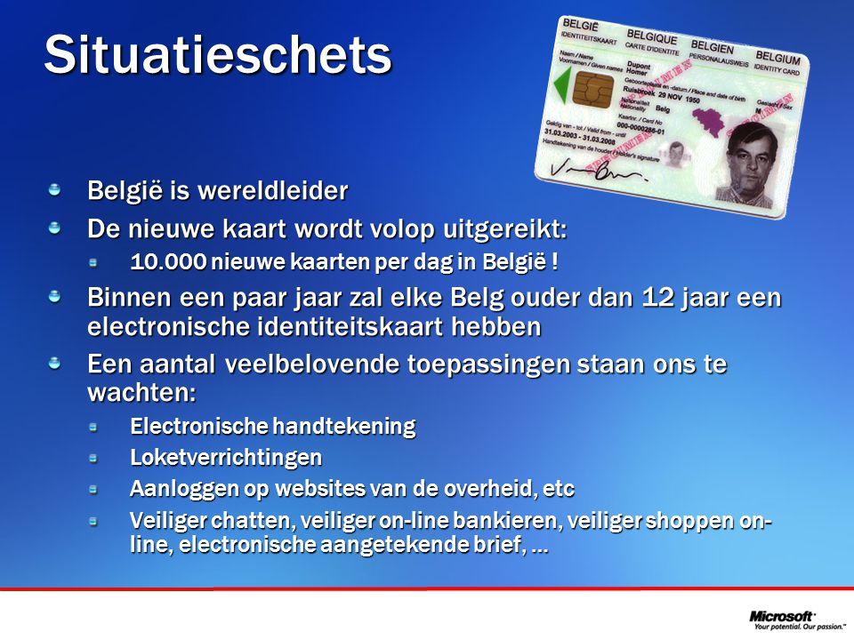 In samenwerking met Situatieschets België is wereldleider De nieuwe kaart wordt volop uitgereikt: 10.000 nieuwe kaarten per dag in België .