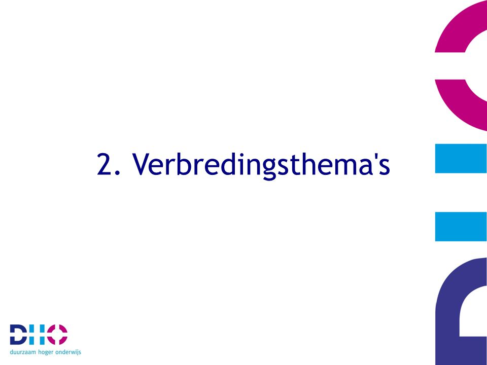 2. Verbredingsthema's