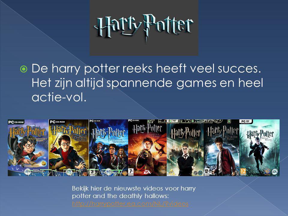  De harry potter reeks heeft veel succes. Het zijn altijd spannende games en heel actie-vol. Bekijk hier de nieuwste videos voor harry potter and the