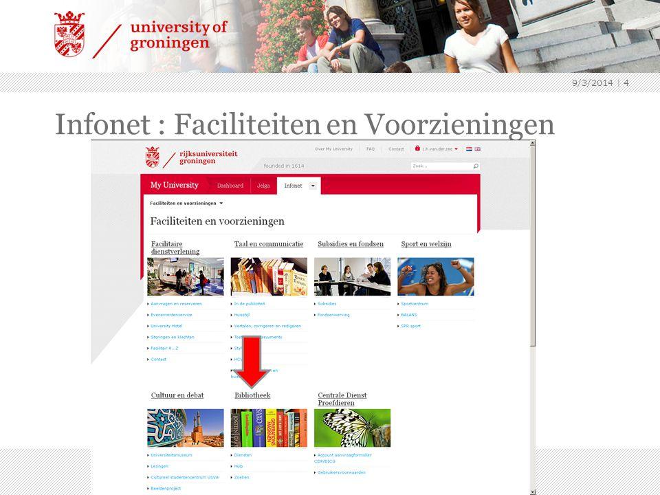 9/3/2014 | 4 Infonet : Faciliteiten en Voorzieningen