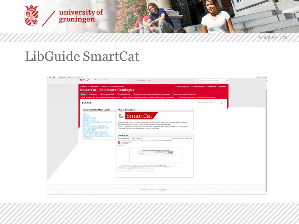 LibGuide SmartCat 9/3/2014 | 10
