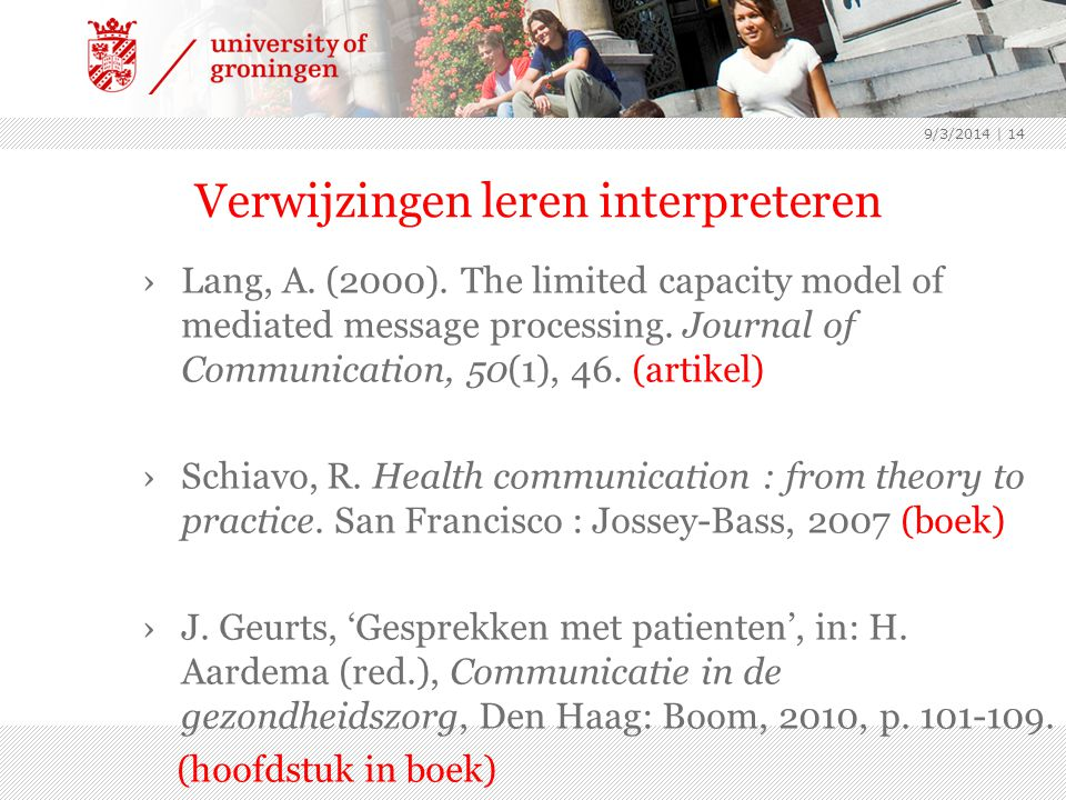 Verwijzingen leren interpreteren ›Lang, A. (2000).