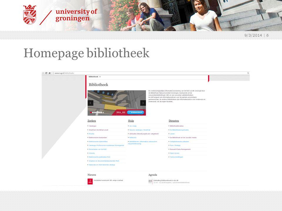 Homepage bibliotheek 9/3/2014 | 6