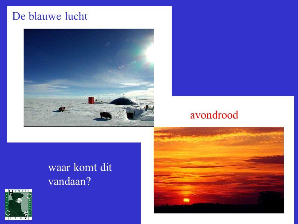 1 De blauwe lucht avondrood waar komt dit vandaan?