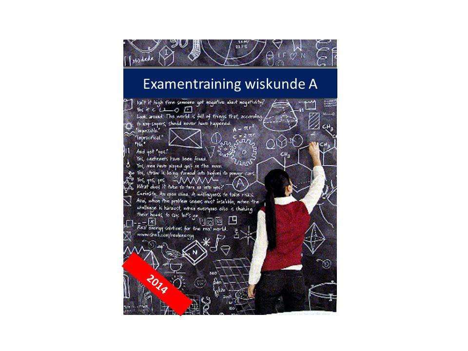 2013-2014 Examentraining wiskunde A 2014
