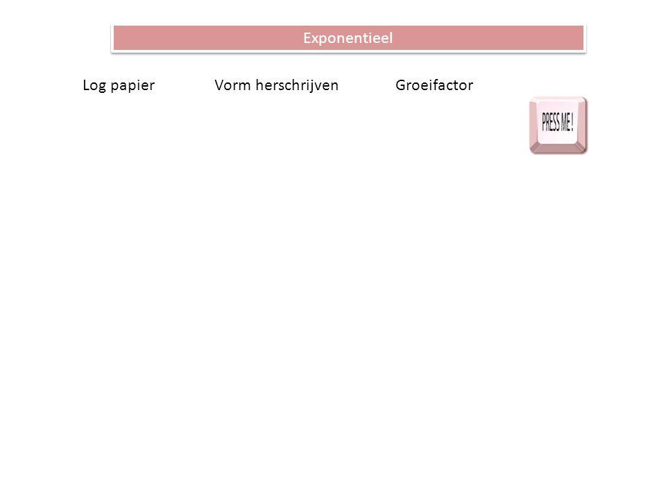 Exponentieel Log papier Vorm herschrijven Groeifactor