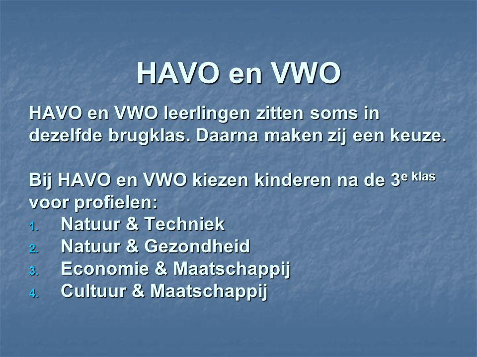 HAVO en VWO HAVO en VWO leerlingen zitten soms in dezelfde brugklas.