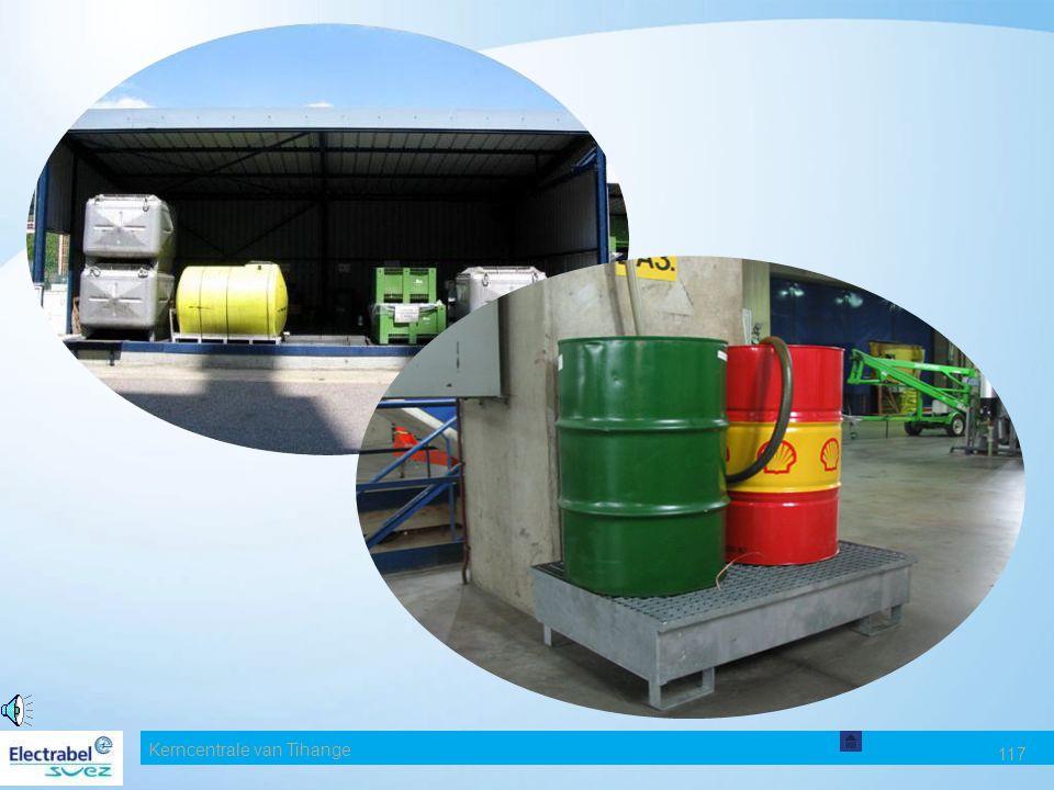 Kerncentrale van Tihange 116 ONTVLAMBAAR VAST AFVAL Gebruik bij voorkeur de herbruikbare doeken en matten. Niet weggooien samen met andere, met olie b