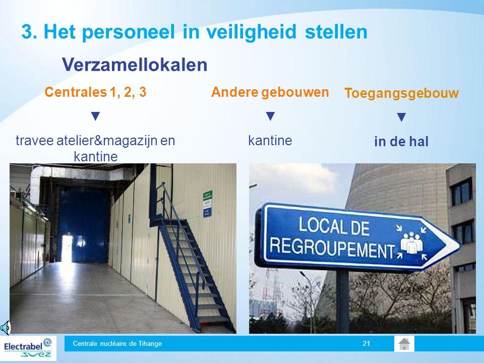 Centrale nucléaire de Tihange 20 Signaal enkel te horen op de plaats waar het ongeval zich heeft voorgedaan Beveilig uw werkpost Sluit ramen en brandw