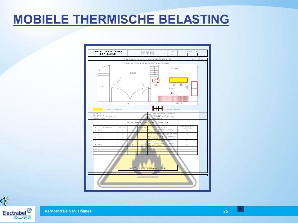 Kerncentrale van Tihange 36 MOBIELE THERMISCHE BELASTING