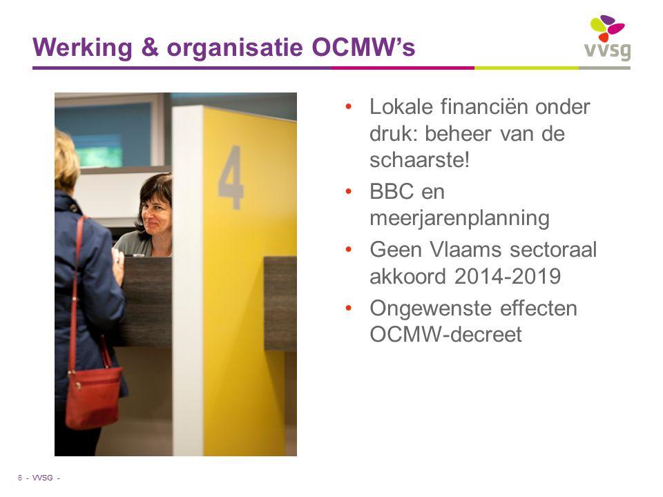 VVSG - Lokale financiën onder druk: beheer van de schaarste.