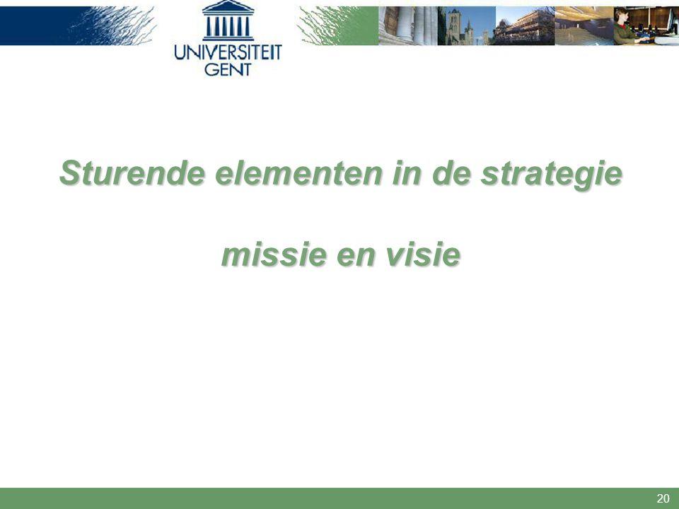 20 Sturende elementen in de strategie missie en visie