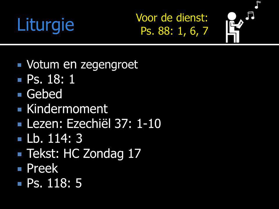 Mededelingen Liturgie  Votum en zegengroet  Ps.