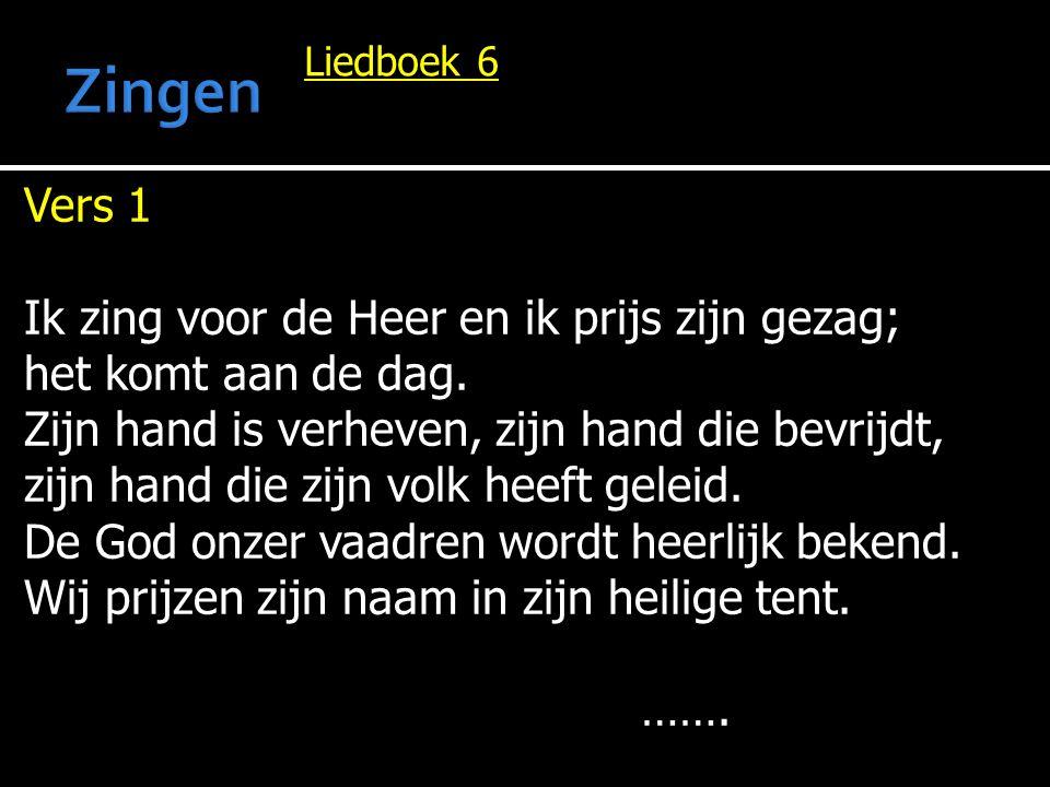 Liedboek 6 …….