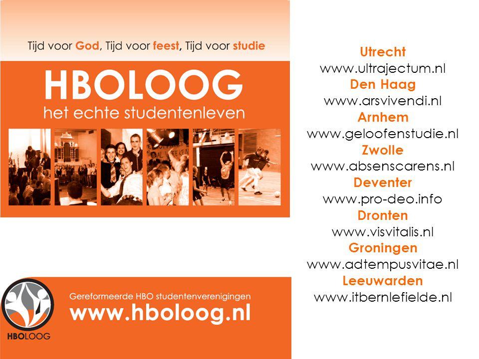 Utrecht www.ultrajectum.nl Den Haag www.arsvivendi.nl Arnhem www.geloofenstudie.nl Zwolle www.absenscarens.nl Deventer www.pro-deo.info Dronten www.visvitalis.nl Groningen www.adtempusvitae.nl Leeuwarden www.itbernlefielde.nl