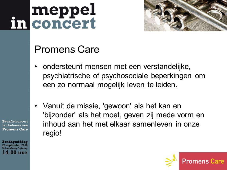 Een greep uit een aantal vestigingen van Promens Care in Meppel Kinderdagcentrum Het Boemeltje, Reestplantsoen Zo n 38 kinderen uit Meppel en omstreken bezoeken het kinderdagcentrum.