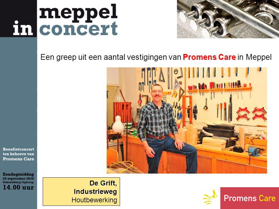 De Grift, Industrieweg Houtbewerking Promens Care Een greep uit een aantal vestigingen van Promens Care in Meppel