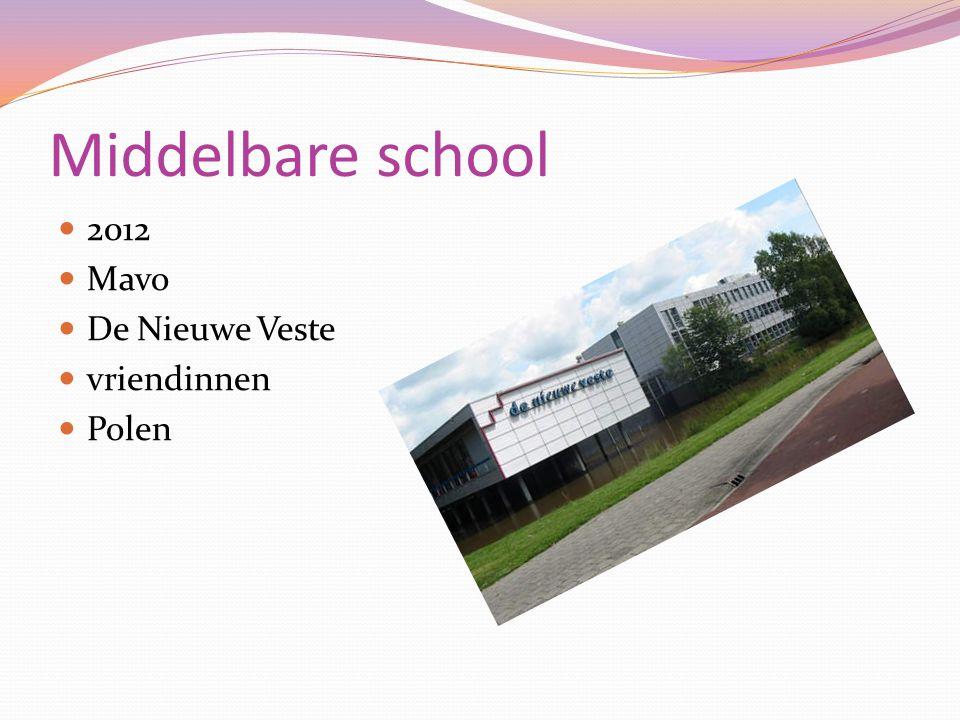 Middelbare school 2012 Mavo De Nieuwe Veste vriendinnen Polen