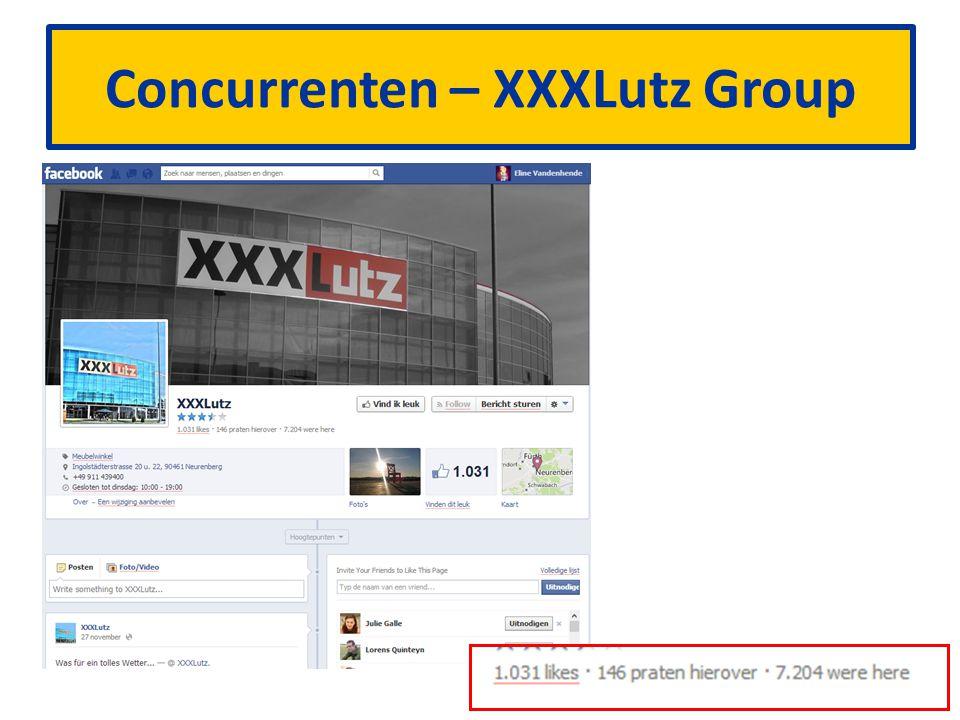 XXXLutz Group beschikt over: – Website, Facebook, Twitter Heeft i.v.m.