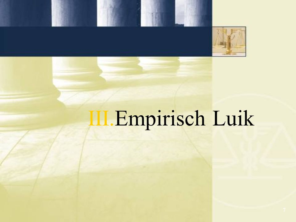 7 III.Empirisch Luik