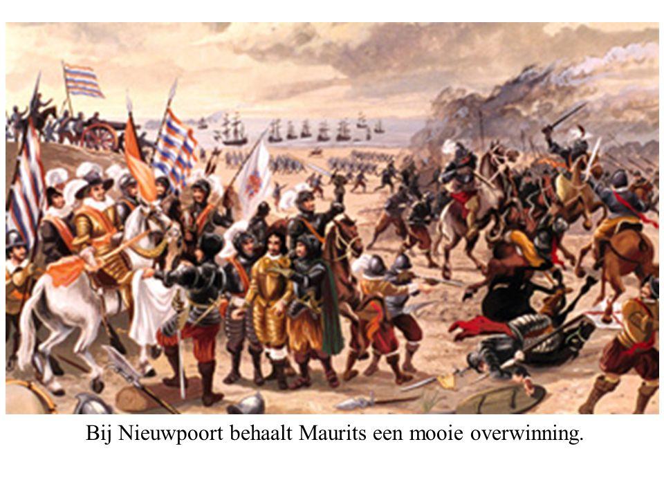 Bij Nieuwpoort behaalt Maurits een mooie overwinning.