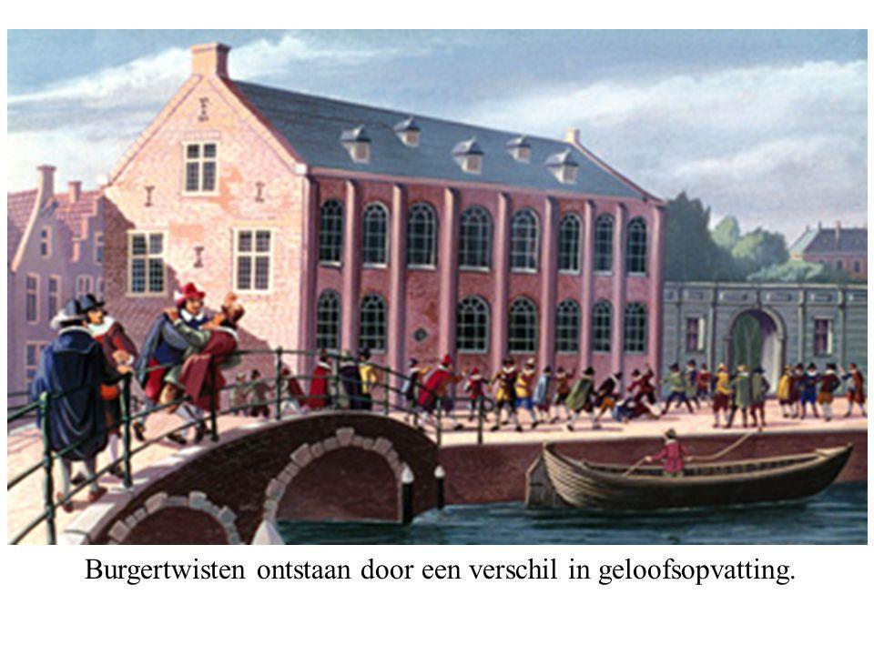Burgertwisten ontstaan door een verschil in geloofsopvatting.