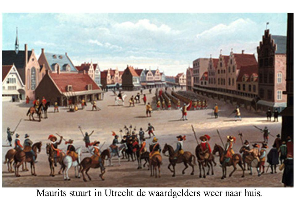 Maurits stuurt in Utrecht de waardgelders weer naar huis.