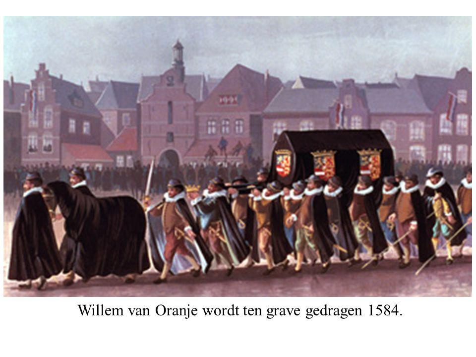 Willem van Oranje wordt ten grave gedragen 1584.
