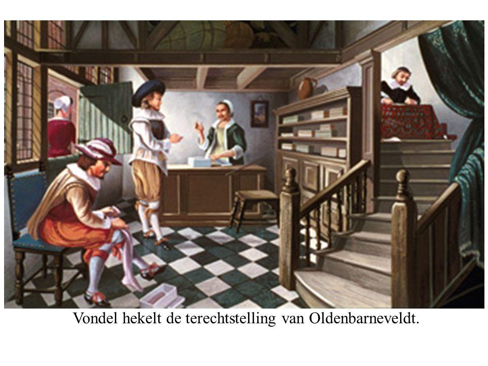 Vondel hekelt de terechtstelling van Oldenbarneveldt.