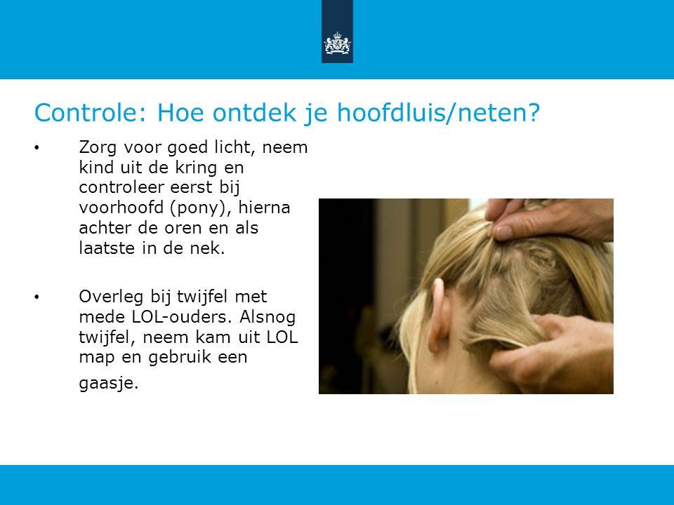 Controle: Hoe ontdek je hoofdluis/neten.