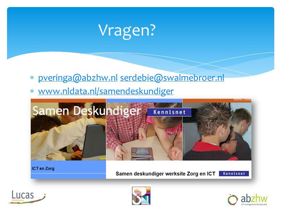  pveringa@abzhw.nl serdebie@swalmebroer.nl pveringa@abzhw.nlserdebie@swalmebroer.nl  www.nldata.nl/samendeskundiger www.nldata.nl/samendeskundiger V