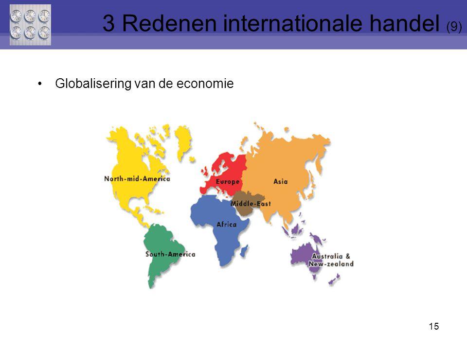 Globalisering van de economie 15 3 Redenen internationale handel (9)