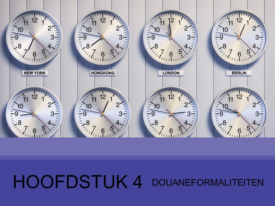12 Nomenclatuur –Wijze van rangschikken van goederen in een lijst –Geharmoniseerd Systeem - GS –Internationaal uniforme goederencode 12 5 Tarief invoerrechten en goederencode (1)