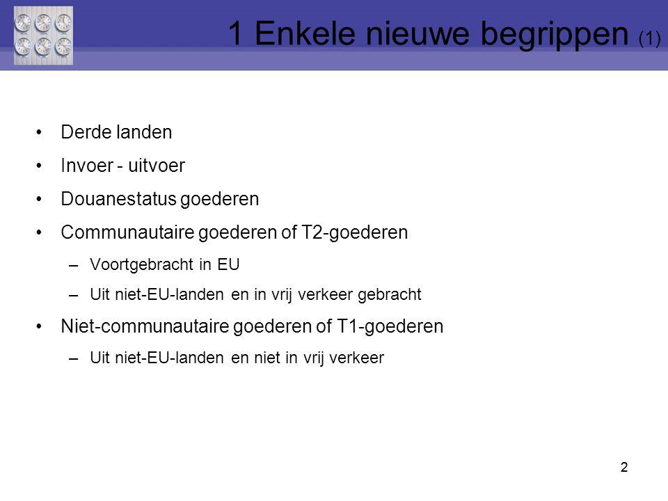 33 INVOER T1-goederen bv.technisch materiaal Tijdelijke vrijstelling GEBRUIK in EU bv.