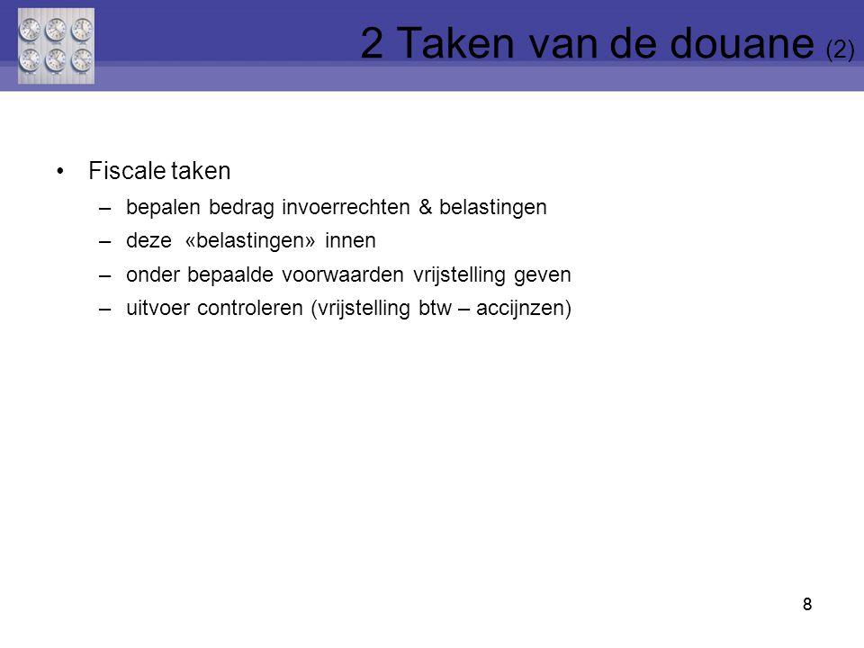 69 Vak 2: afzender = belangrijk bij uitvoeraangifte Vak 6: 12 (pallets), 24 (kartons), 1 (container) … Vak 8: geadresseerde = belangrijk bij invoeraangifte Vak 14: aangever = degene die aangifte opmaakt * handelaar zelf * douane-expediteur in naam van handelaar Vak 20: Incoterm + plaats Vak 22: factuurwaarde (+ ISO-code munt van de factuur) Vak 23: omrekeningskoers naar EUR 69 8 Douaneaangifte (24)